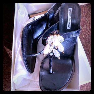 Manolo Blahnik Black High Heel Sandals